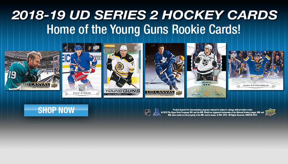 2018-19 Upper Deck Series 2 Hockey Cards available now!