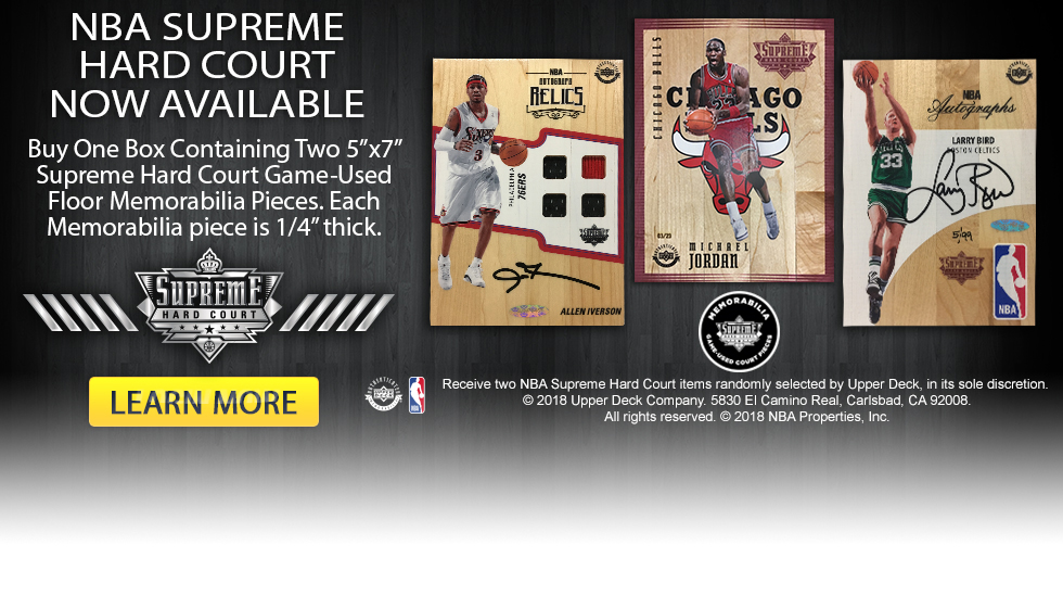Upper Deck Authenticated NBA Supreme Hard Court is Now Available!