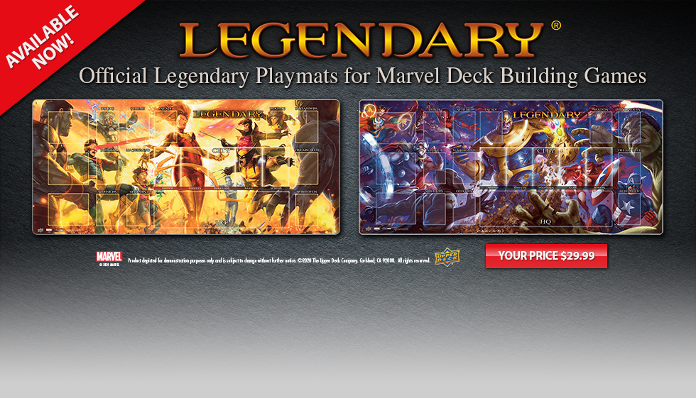 Official Legendary Playmats for Marvel Deck Building Games Now Available!
