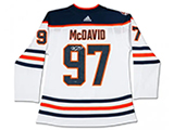 Connor McDavid Autographed Edmonton Oilers Jersey w/40th Anniversary Patch | Buy Now