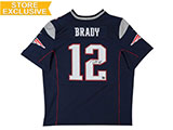 Tom Brady Autographed Authentic Nike New England Patriots Navy Jersey | Buy Now