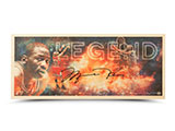 Michael Jordan Autographed Legend Bamboo Print LE | Buy Now