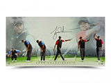 "Tiger Woods Autographed ""82"" 36 x 18 Print 