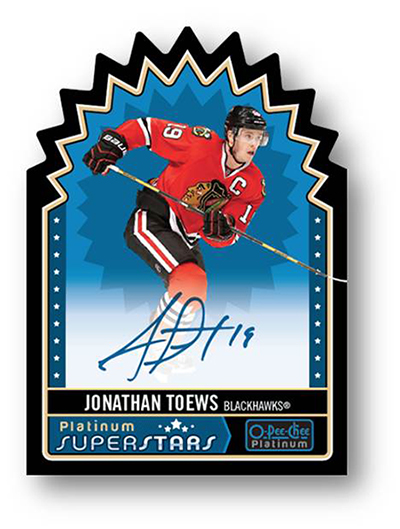 Jonathan Toews Platinum SuperStars Card